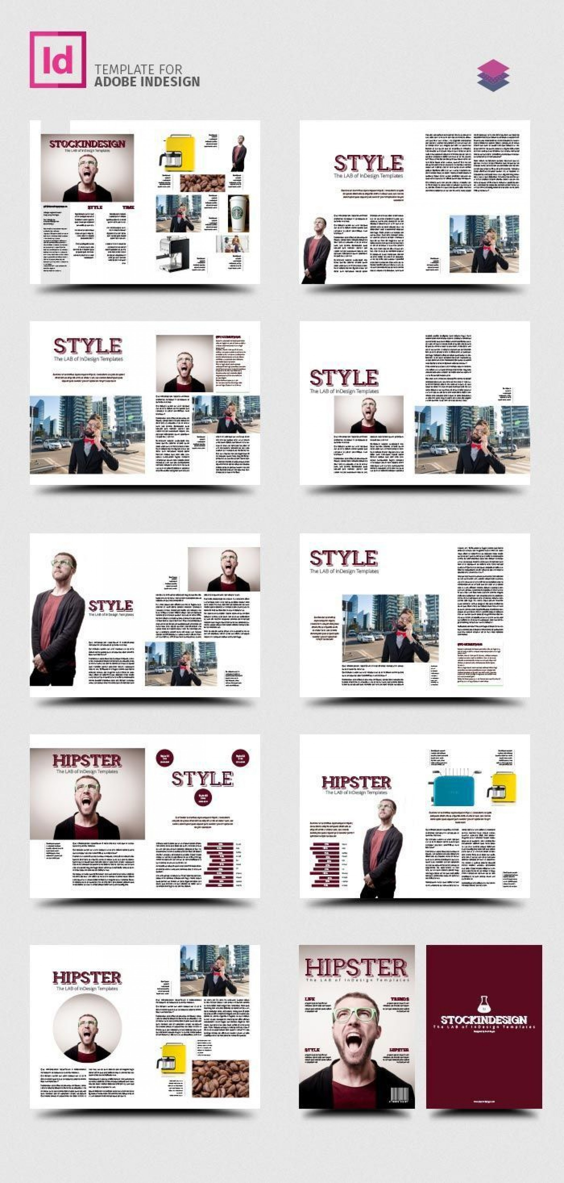 002 Impressive School Magazine Layout Template Free Download Picture 1920