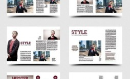 002 Impressive School Magazine Layout Template Free Download Picture