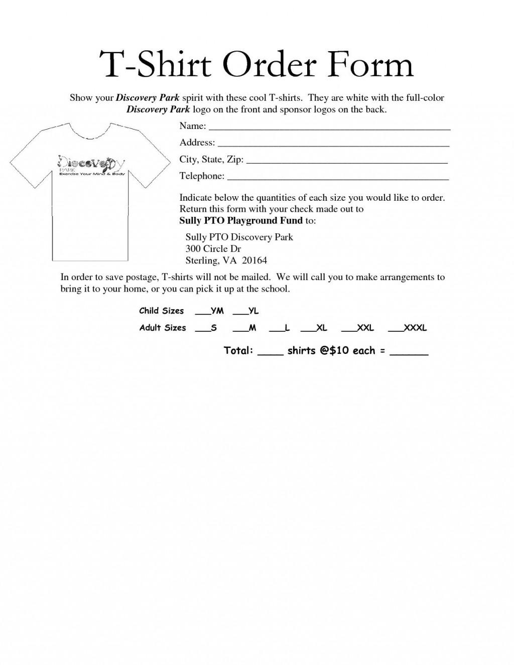 002 Impressive Shirt Order Form Template Design  Tee T Microsoft WordLarge