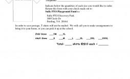 002 Impressive Shirt Order Form Template Design  Tee T Microsoft Word