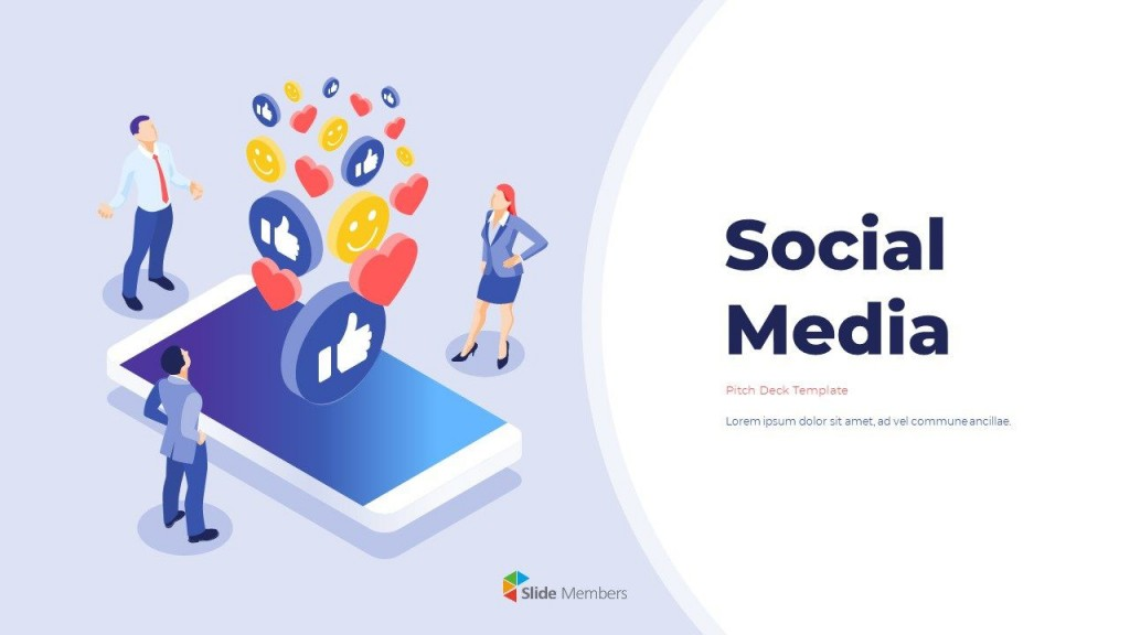 002 Impressive Social Media Powerpoint Template Picture  Templates Report Free Social-media-marketing-powerpoint-templateLarge