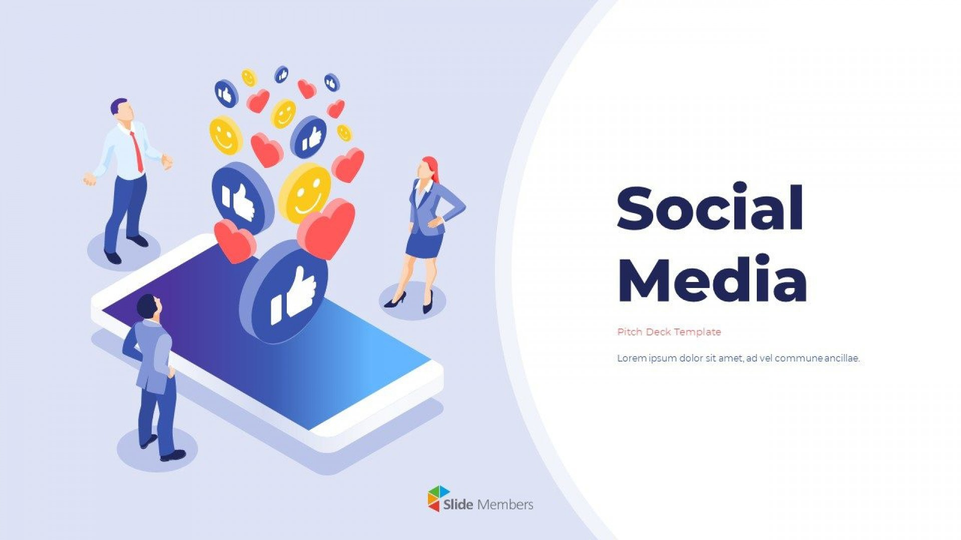 002 Impressive Social Media Powerpoint Template Picture  Templates Report Free Social-media-marketing-powerpoint-template1920