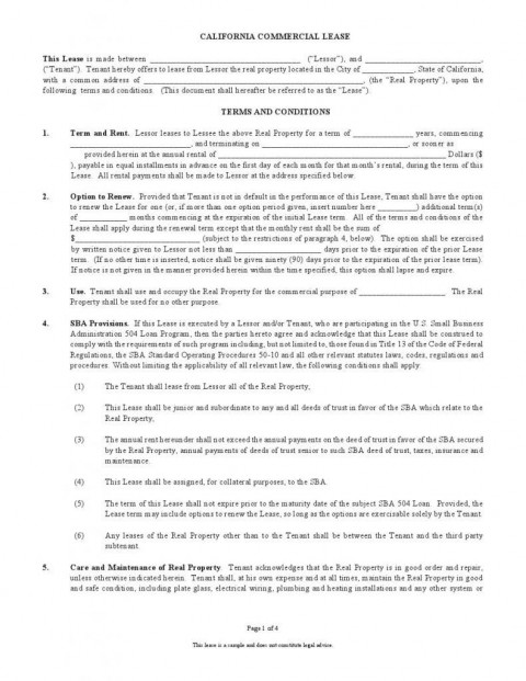 002 Impressive Template For Lease Agreement Free Inspiration  Printable Room Rental Commercial Uk Florida480