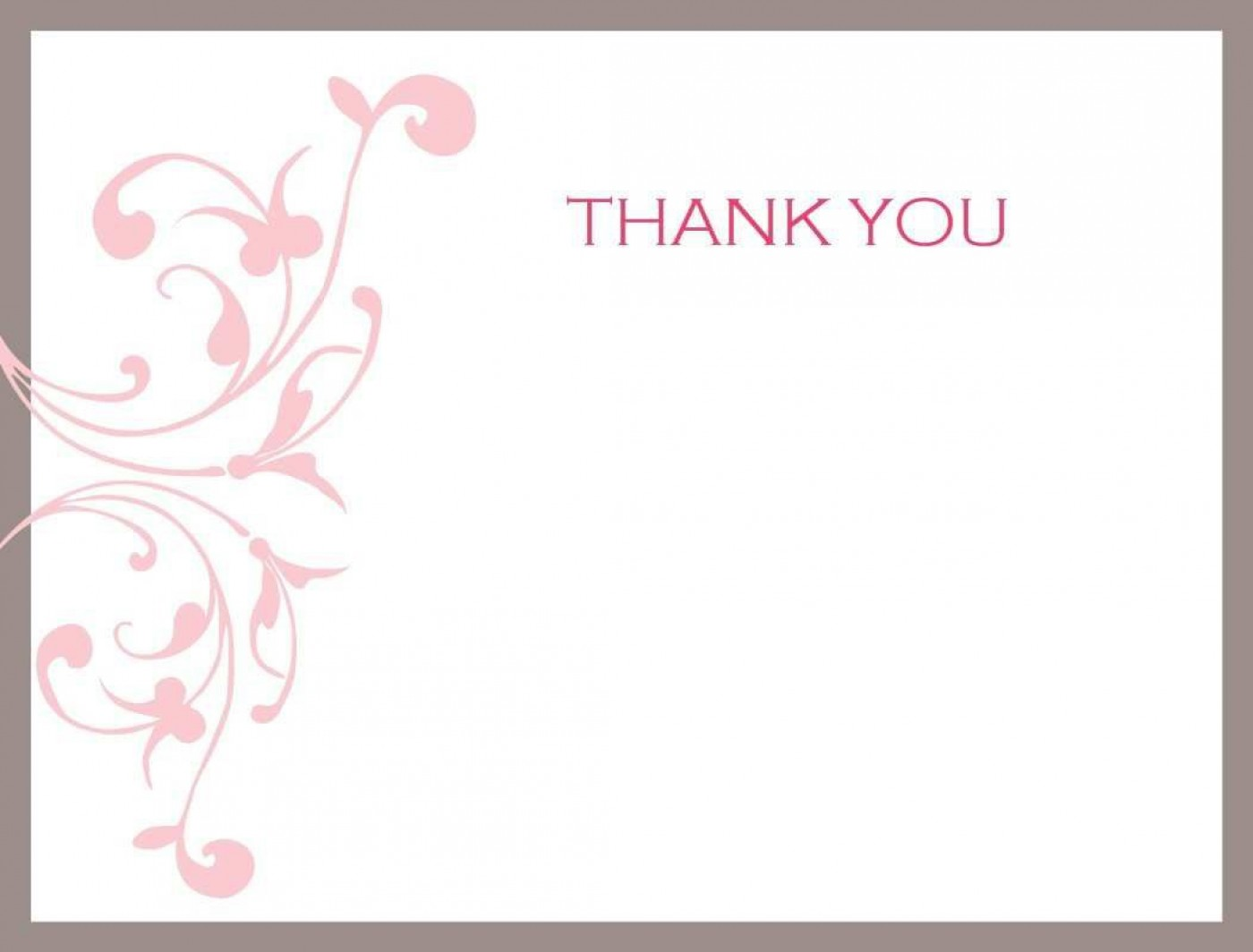 002 Impressive Thank You Card Template Photo  Wedding Busines Word Free1400