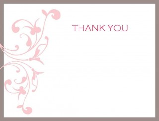 002 Impressive Thank You Card Template Photo  Wedding Busines Word Free320