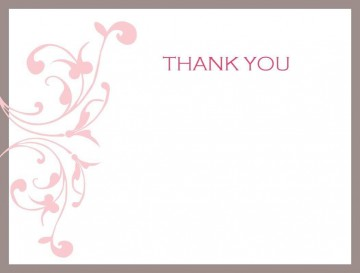 002 Impressive Thank You Card Template Photo  Wedding Busines Word Free360
