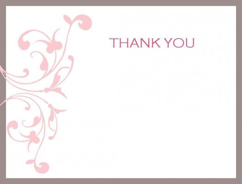 002 Impressive Thank You Card Template Photo  Wedding Busines Word Free480