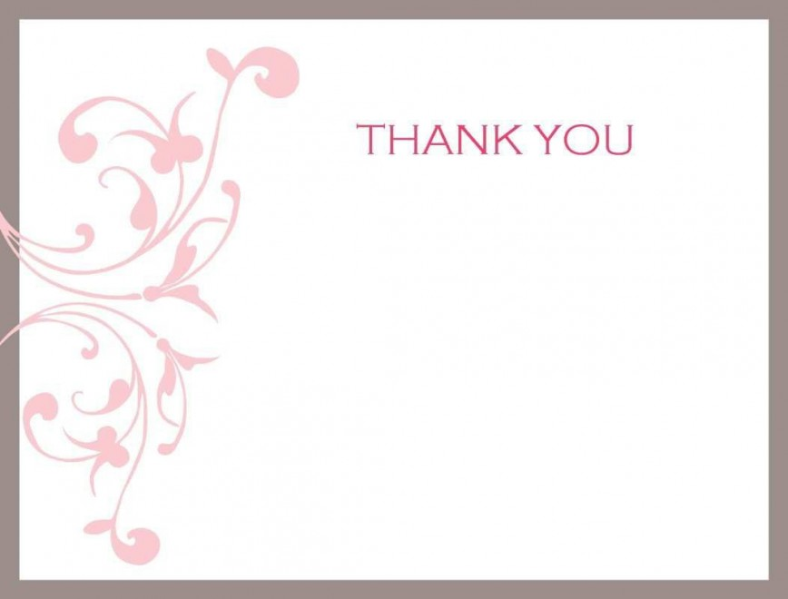 002 Impressive Thank You Card Template Photo  Wedding Busines Word Free868
