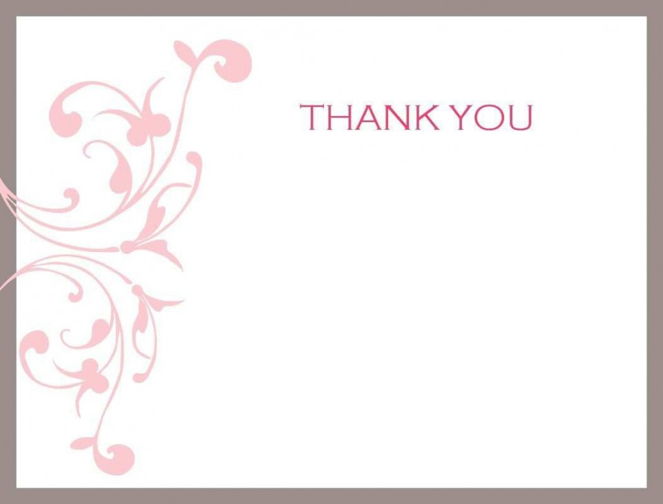 002 Impressive Thank You Card Template Photo  Wedding Busines Word Free960