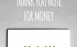 002 Impressive Thank You Note Template For Money Example  Card Wording Wedding Donation Graduation