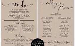 002 Impressive Wedding Program Template Free Download Idea  Downloadable Pdf Reception Microsoft Word Fan