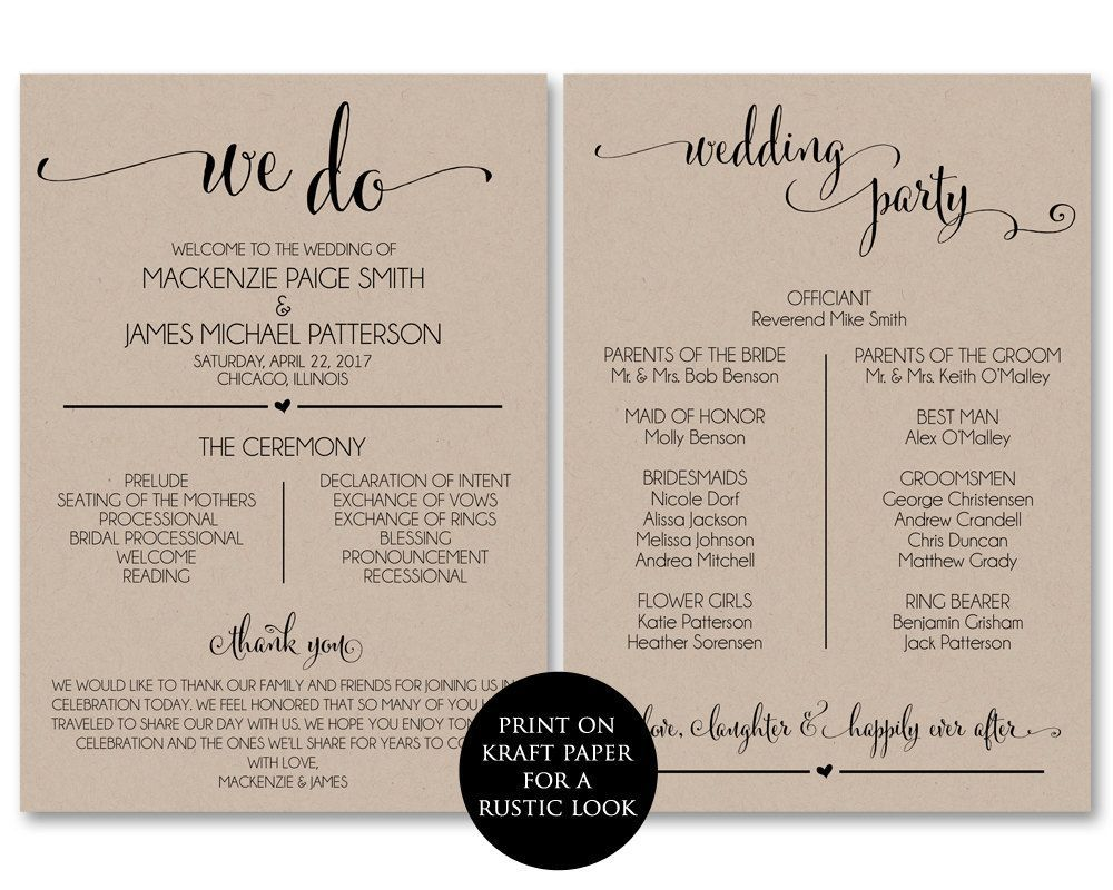 002 Impressive Wedding Program Template Free Download Idea  Downloadable Fan Microsoft Word Printable EditableFull