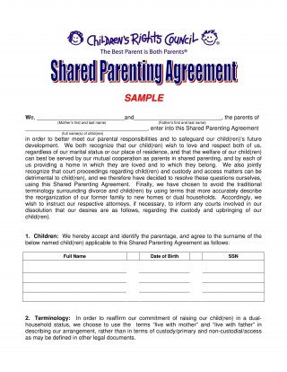 002 Incredible Child Custody Agreement Template High Definition  Texa Nc Visitation Uk320