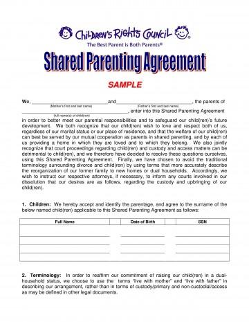 002 Incredible Child Custody Agreement Template High Definition  Texa Nc Visitation Uk360