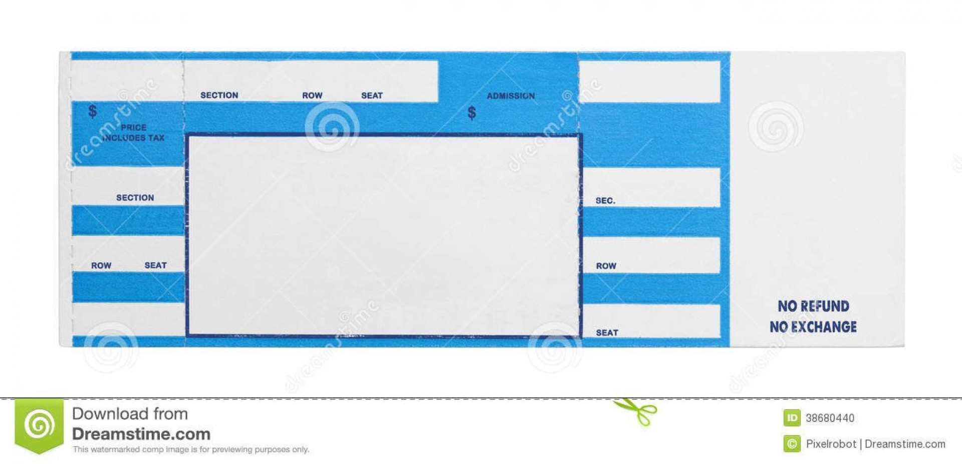 002 Incredible Concert Ticket Template Free Printable Picture  Gift1920
