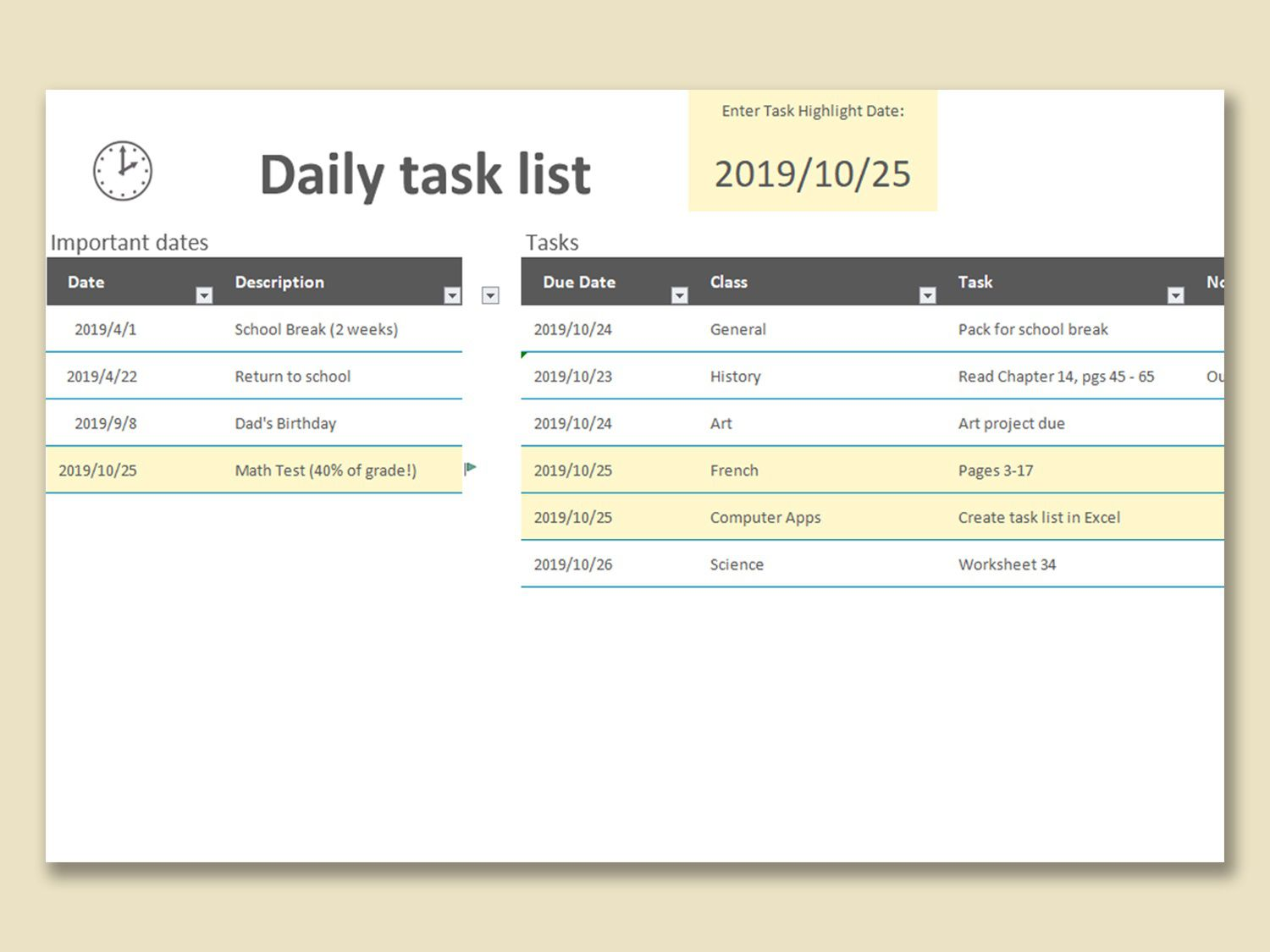 002 Incredible Daily Task List Template Design  Excel Download To Do FreeFull