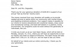 002 Incredible Donor Thank You Letter Template Sample  Donation For Church Charitable