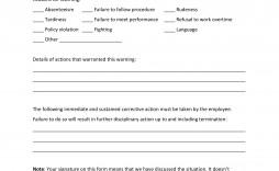 002 Incredible Employee Warning Notice Template Word High Def