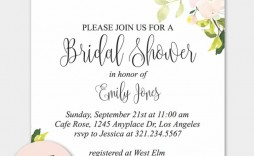 002 Incredible Free Bridal Shower Invite Template Concept  Templates Invitation To Print Online Wedding For Microsoft Word
