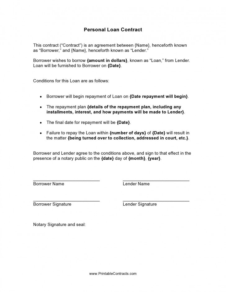 002 Incredible Free Family Loan Agreement Template Nz High Def 728