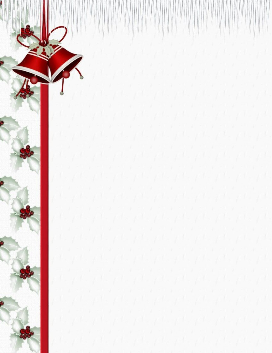 002 Incredible Free Holiday Stationery Template For Word Concept 868