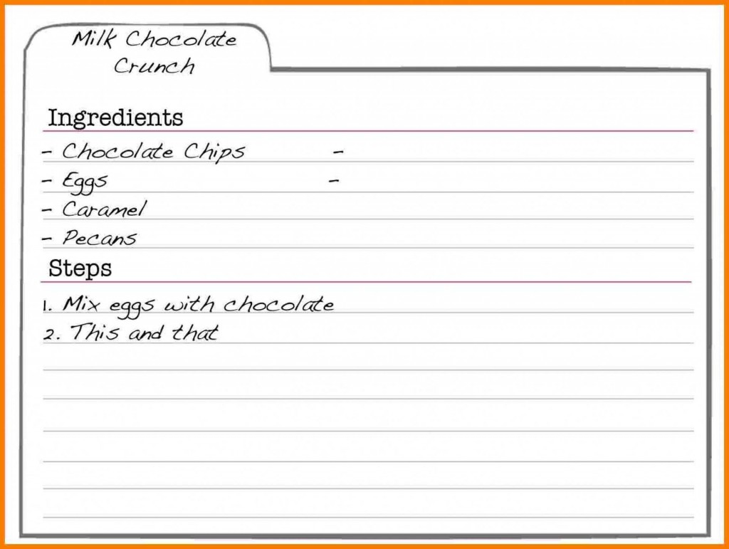 002 Incredible Free Recipe Template For Word Concept  Editable Page BookLarge