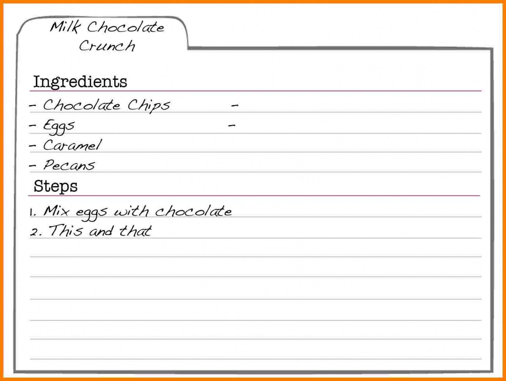 002 Incredible Free Recipe Template For Word Concept  Book Editable Card Microsoft 4x6 PageFull
