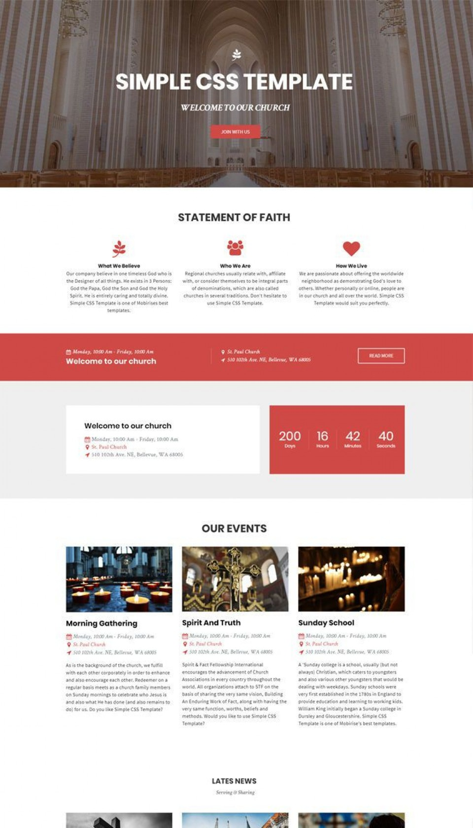 002 Incredible Free Simple Web Page Template Example  Html One Website Download With Cs960