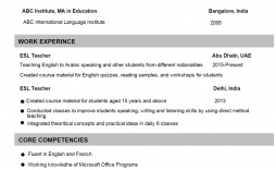 002 Incredible Good Resume For Teaching Job Idea  Sample A Teacher' Word Format Fresher In India