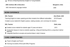002 Incredible Good Resume For Teaching Job Idea  Sample Teacher Fresher In India