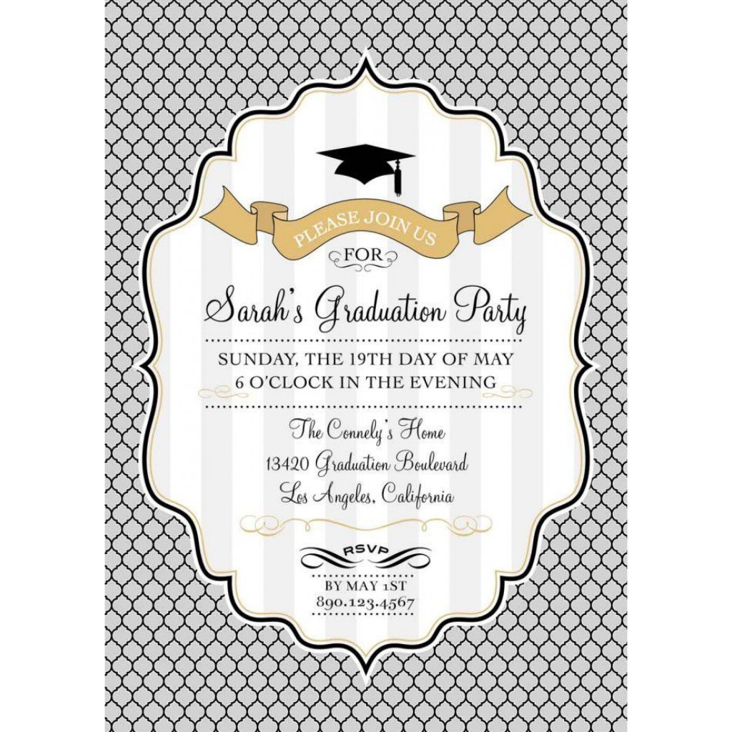002 Incredible Graduation Party Invitation Template High Resolution  Microsoft Word 4 Per PageLarge