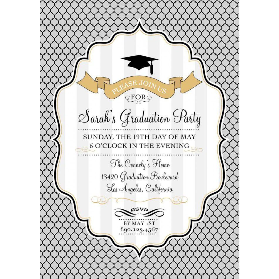 002 Incredible Graduation Party Invitation Template High Resolution  Microsoft Word 4 Per PageFull