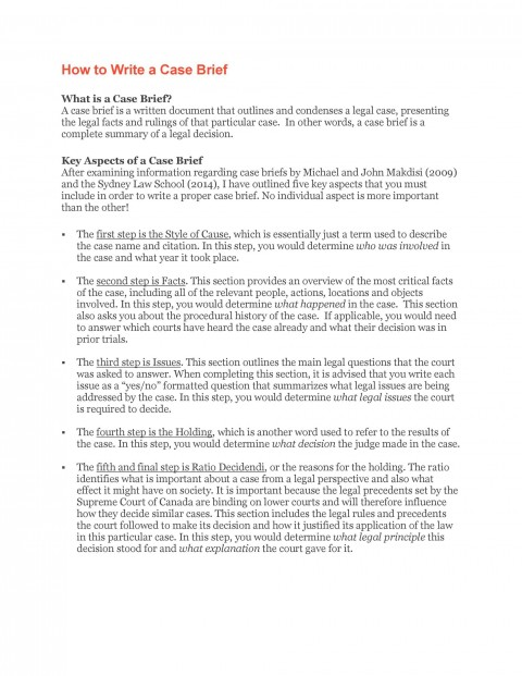 002 Incredible Legal Brief Template Word Sample  Microsoft Case480
