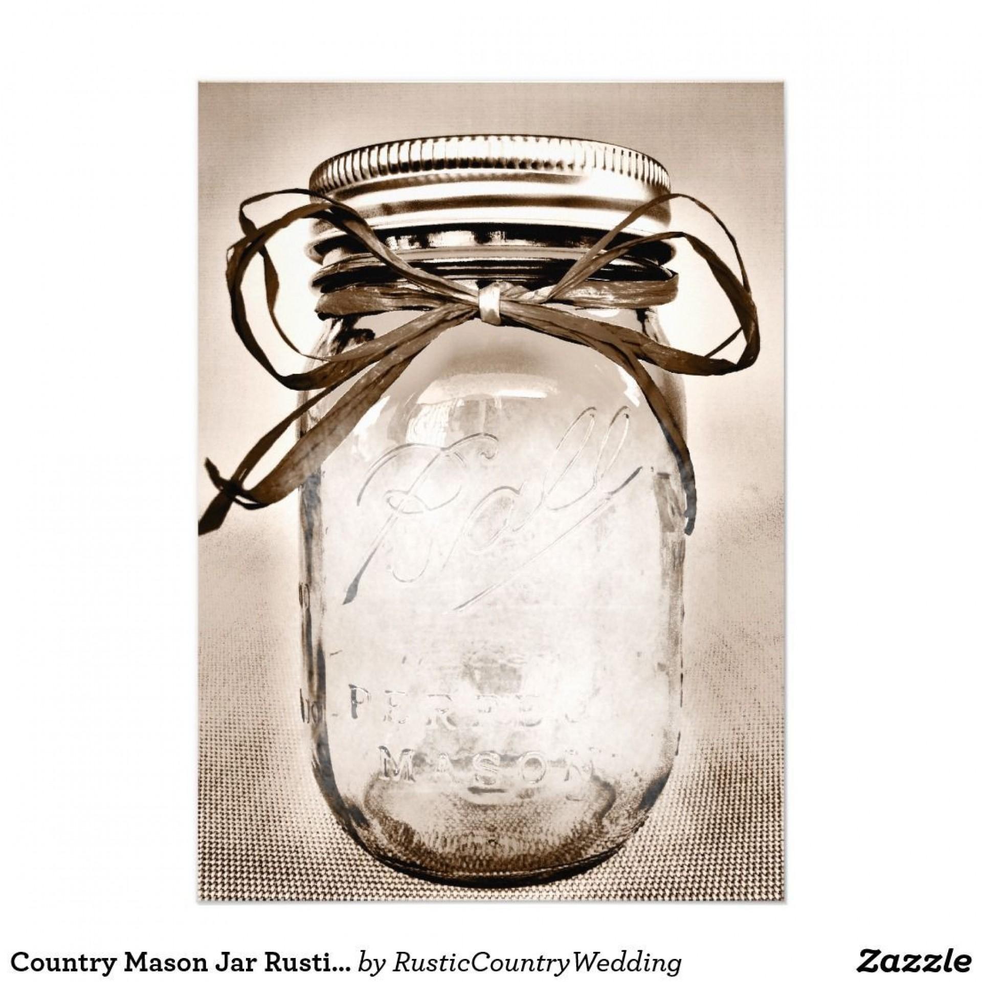 002 Incredible Mason Jar Invitation Template Photo  Free Wedding Shower Rustic1920