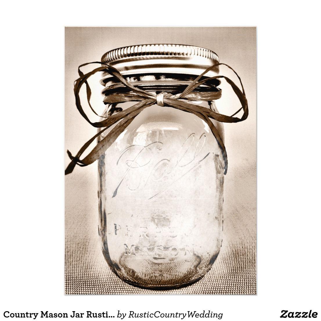 002 Incredible Mason Jar Invitation Template Photo  Free Wedding Shower RusticFull