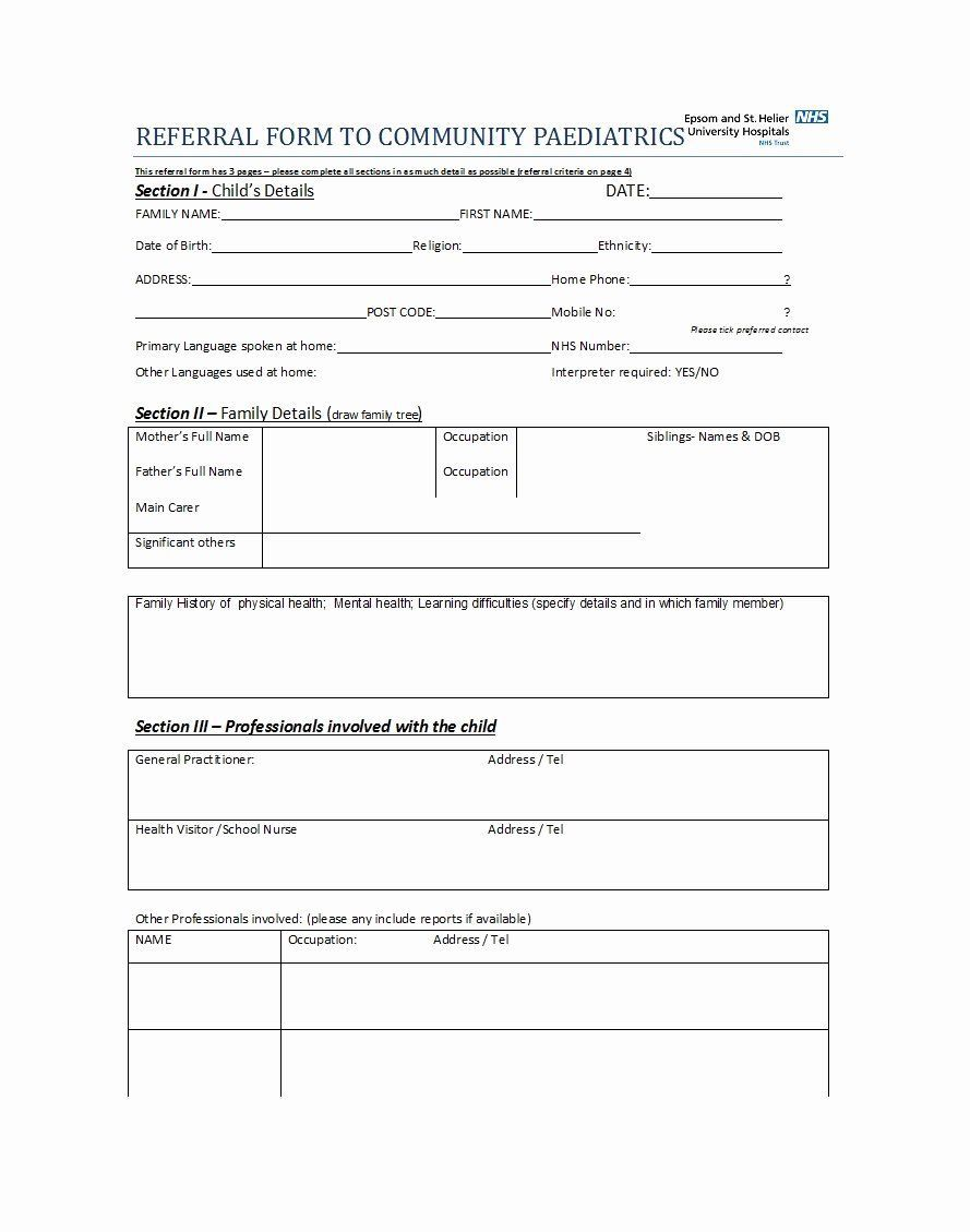 002 Incredible Medical Referral Form Template Highest Quality  Dental Patient Doctor Free PhysicianFull