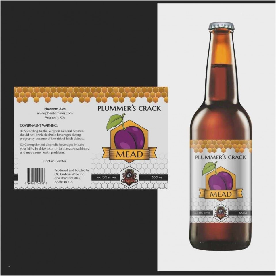 002 Incredible Microsoft Word Beer Bottle Label Template Photo 960