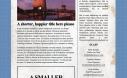 002 Incredible Microsoft Word Newspaper Template Design  Free Old Download Fashioned