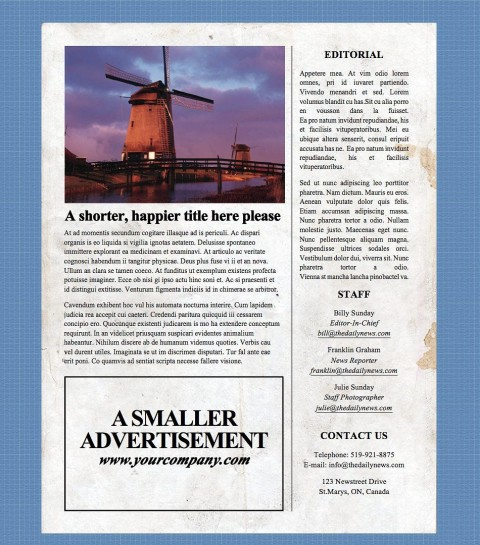 002 Incredible Microsoft Word Newspaper Template Design  Vintage Old Fashioned480