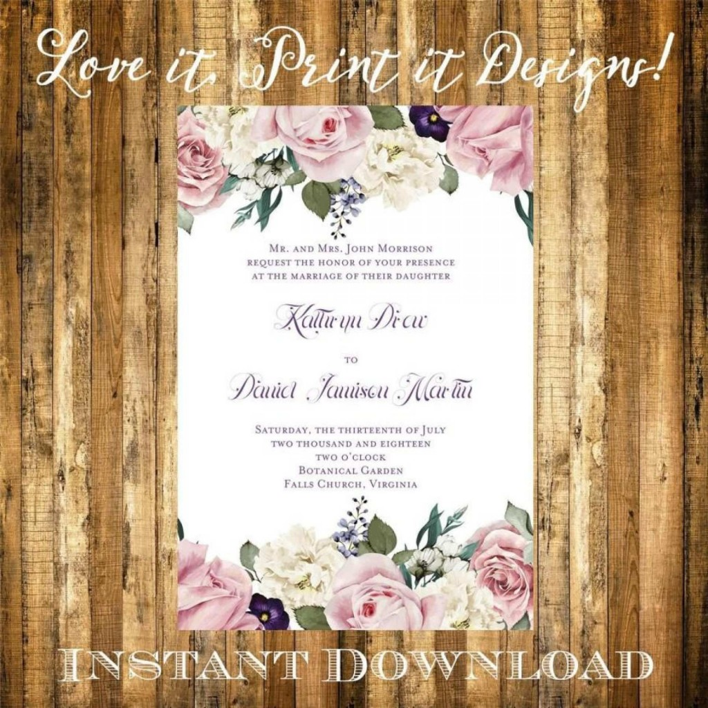 002 Incredible Microsoft Word Wedding Invitation Template Idea  Templates M Editable Free Download ChineseLarge