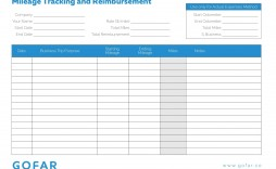 002 Incredible Mileage Tracking Excel Template Idea