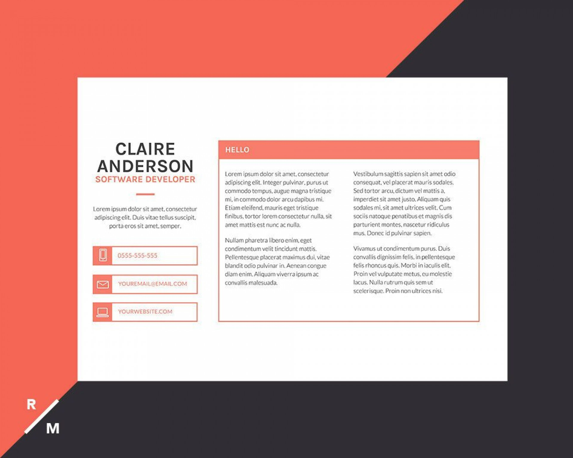 002 Incredible Modern Cover Letter Example Photo  2019 Sample1920