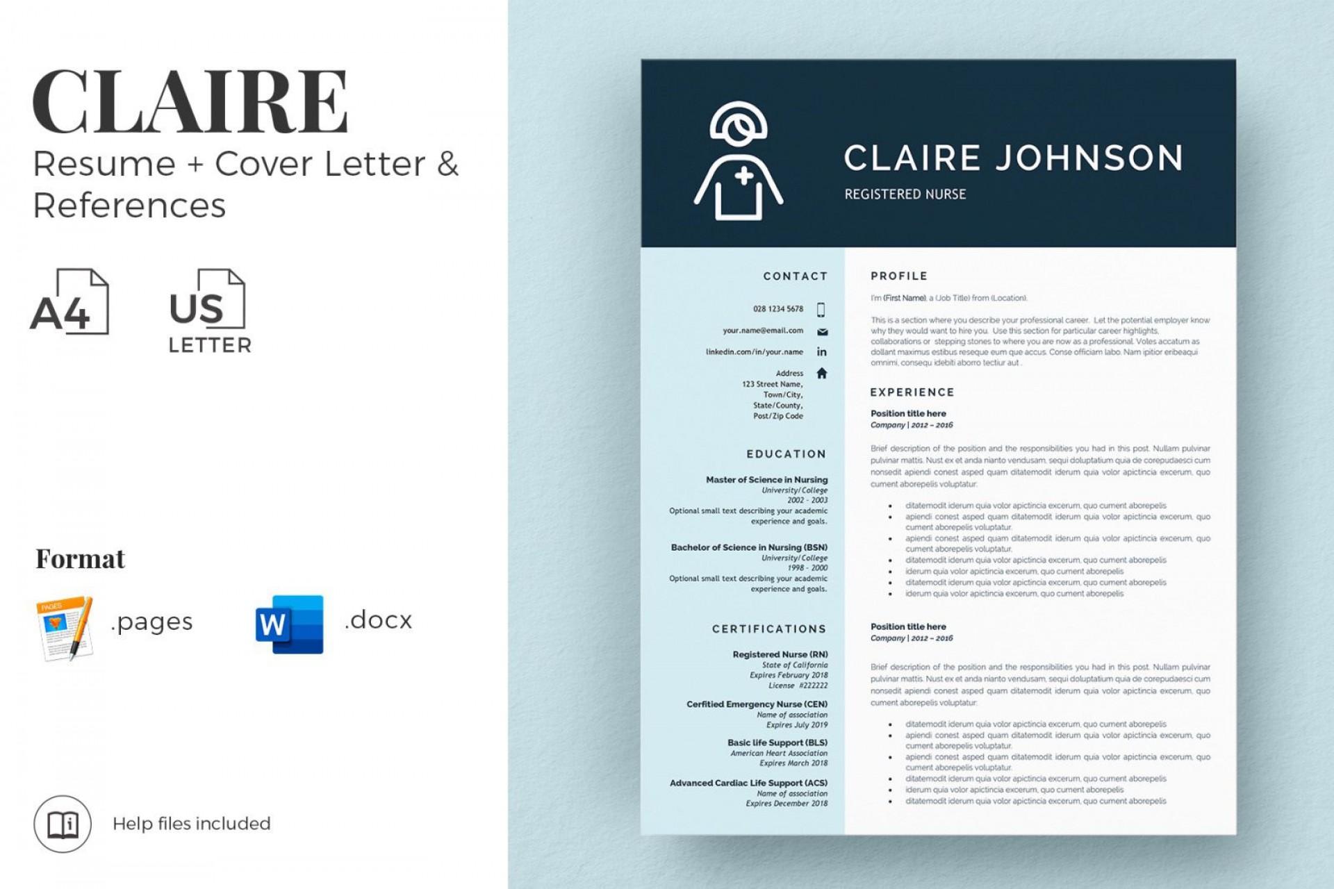 002 Incredible Nurse Resume Template Word High Definition  Cv Free Download Rn1920