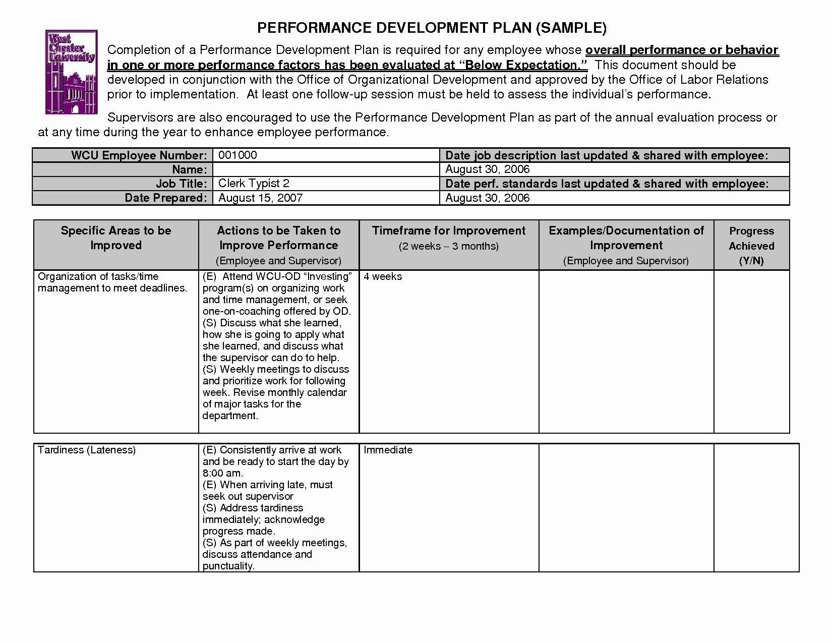 002 Incredible Personal Development Plan Example For Work Pdf Idea Full
