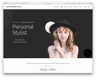 002 Incredible Personal Website Template Bootstrap Sample  4 Free Download Portfolio320