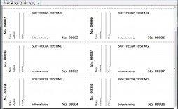 002 Incredible Printable Raffle Ticket Template Image  Free With Number Excel