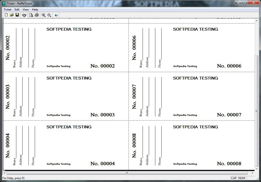 002 Incredible Printable Raffle Ticket Template Image  Free With Number ExcelFull