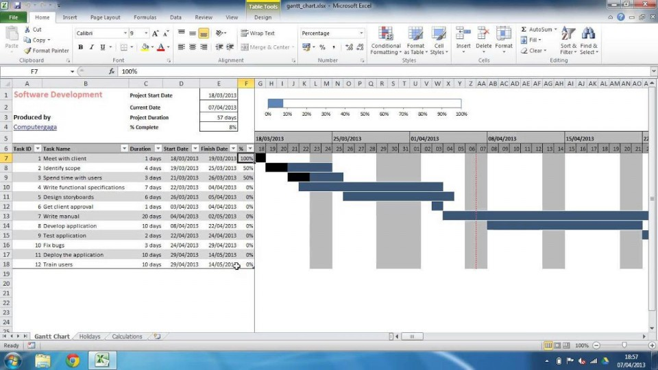 002 Incredible Project Gantt Chart Template Excel Free High Def 960