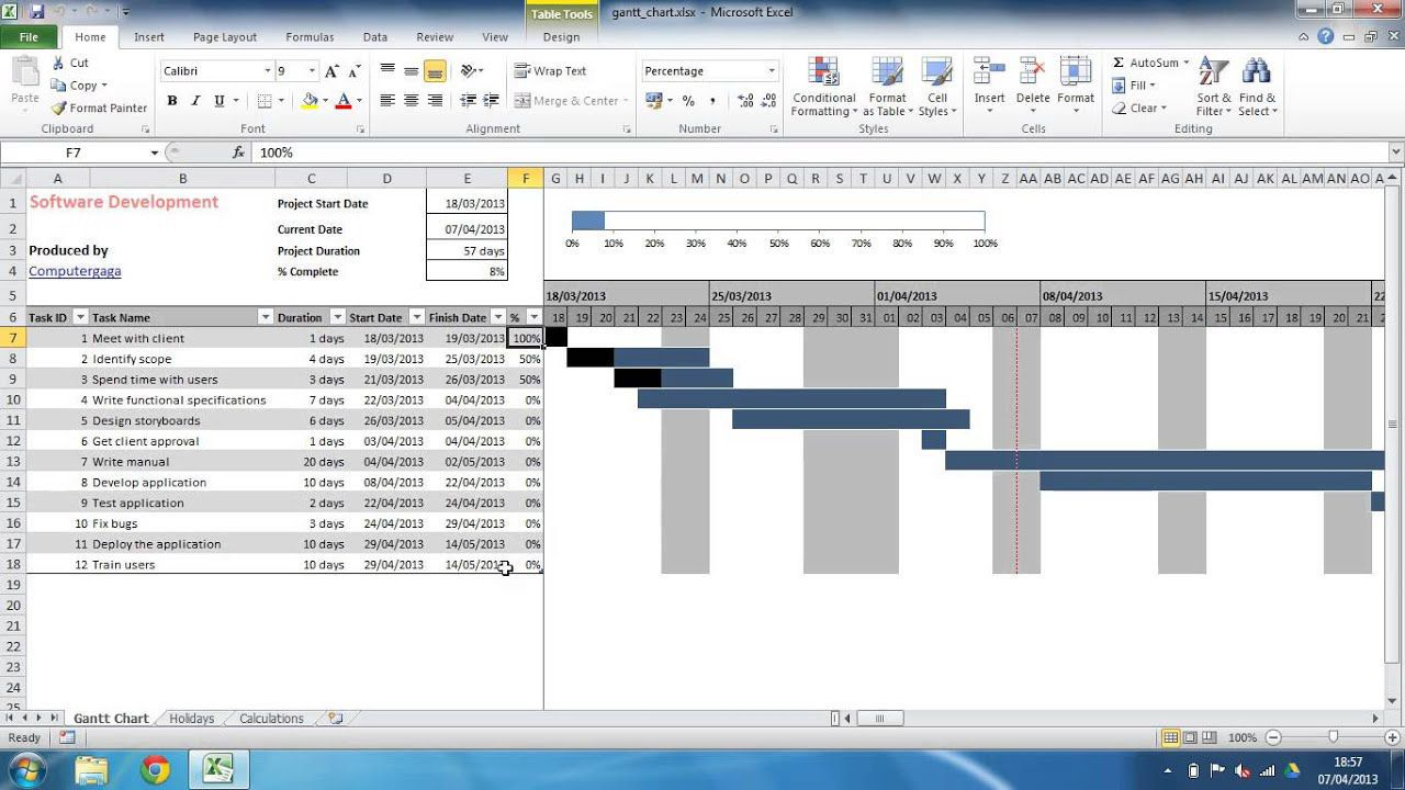 002 Incredible Project Gantt Chart Template Excel Free High Def Full