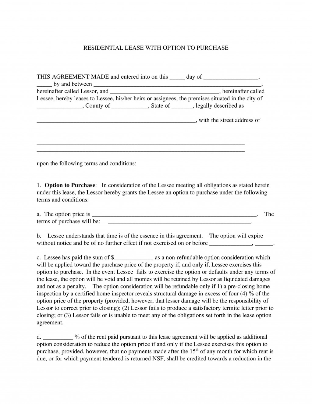 002 Incredible Rent To Own Template Picture  Lease Agreement Canada ExampleLarge